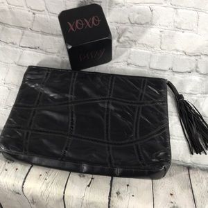 Meyers Vintage Patchwork leather clutch hand bag